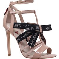 KG by Kurt Geiger Hearts Stiletto Heeled Sandals, Beige Comb