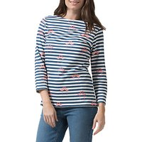 Sugarhill Boutique Brighton Flamingo Stripe Top, White/Navy