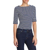 Lauren Ralph Lauren Boat Neck Stripe Top