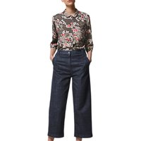 Toast Guan Floral Spun Silk PJ Top, Multi