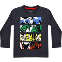 Marvel Boys Long Sleeve Printed T-Shirt, Navy