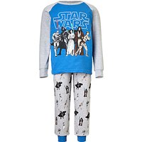 Star Wars Childrens Character Pyjamas, Blue/Grey