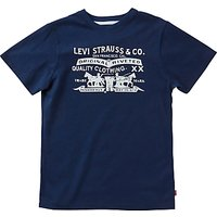 Levis Boys Two Horsey Printed T-Shirt, Navy