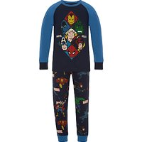 Marvel Childrens Printed Pyjamas, Navy