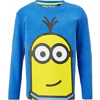 Minions Childrens Face Print T-Shirt, Blue
