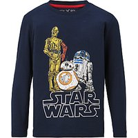 Star Wars Childrens Droids Print T-Shirt, Blue