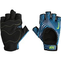Nike Womens Fit Training Gloves, Blue/Multi