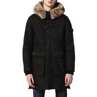 Diesel W-Folk Coat, Black