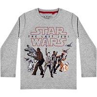 Star Wars Childrens Episode 8 T-Shirt, Grey
