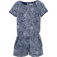 Fat Face Girls Paisley Jersey Playsuit, Blue