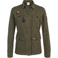 Fat Face Hastings Badge Garment Dye Jacket, Khaki