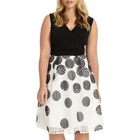 Studio 8 Tiggy Spotted Dress, Black/White