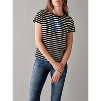 People Tree Peace Stripe T-Shirt, Black/White