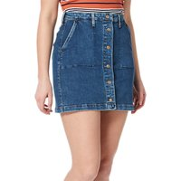 Lee Button Through Denim Skirt, Acid Stone