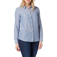 Lee One Pocket Patterned Shirt, Faded Blue
