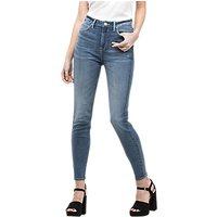 Lee Scarlett High Waist Cropped Skinny Jeans, Light Urban Indigo