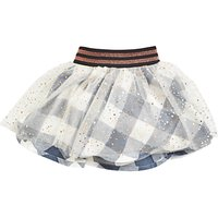 Angel & Rocket Baby Mesh Check Skirt, Multi