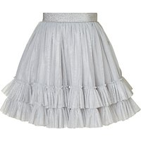 Wheat Girls Maren Skirt, Silver