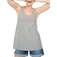 Fat Face Into The Sunset Wrap Back Vest, Grey
