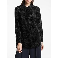 Bruce by Bruce Oldfield Button Through Devore Blouse, Black