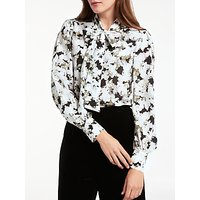 Bruce by Bruce Oldfield Silk Peashoot Print Blouse, Black/Multi