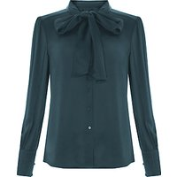 Bruce by Bruce Oldfield Pleat Cuff Blouse, Forest Green