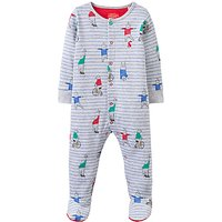 Baby Joules Ziggy Bear Sleepsuit, Red/Grey