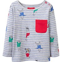 Baby Joules Rufus All-Over Print Top, Red/Grey