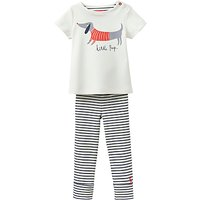 Baby Joule Stevie Sausage Dog Top and Trousers Set, Cream