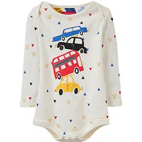 Baby Joule Snazzy Traffic Bodysuit, Cream