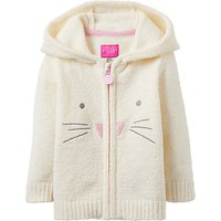 Baby Joule Miskin Chenielle Zip Through Jumper, Cream