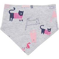 Baby Joules Bibby Nchief Cats Bib, Grey/Pink