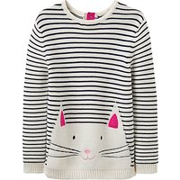 Baby Joule Young Winnie Long Sleeve Jumper, Cream/Pink