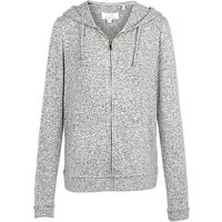 Fat Face Weston Zip Through Hoodie, Grey Marl
