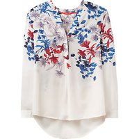 Joules Rosamund Printed Blouse, Cream Fay Floral