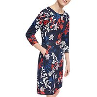 Joules Beth Printed Ponte Dress, French Navy Fay Floral