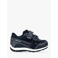 Geox Childrens Shaax Rip Tape Trainers, Navy