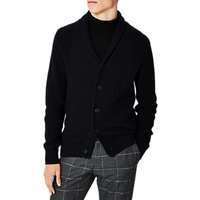 Selected Homme Rolf Shawl Neck Cardigan, Dark Sapphire/Caviar