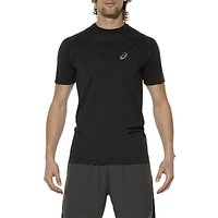 Asics Seamless Short Sleeve Mens Running T-Shirt, Black