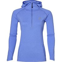 Asics Womens Long Sleeve Running Hoodie, Blue/Purple