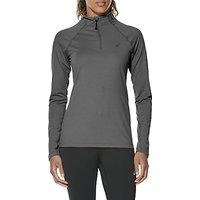 Asics Half Zip Jersey Long Sleeve Running Top, Grey