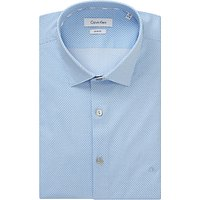 Calvin Klein Bari Slim Fit Geometric Print Shirt, White/Blue