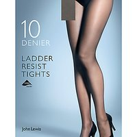 John Lewis 10 Denier Smooth Ladder Resist Tights  Pack of 1