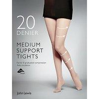 John Lewis & Partners 20 Denier Medium Support Tights, Pack Of 1