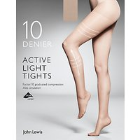 John Lewis 10 Denier Firm Support Active Light Sheer Tights