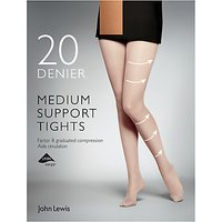 John Lewis 20 Denier Medium Support Tights, Pack of 1