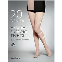 John Lewis 20 Denier Medium Support Tights, Pack of 1