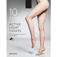 John Lewis & Partners 10 Denier Firm Support Active Light Sheer Tights