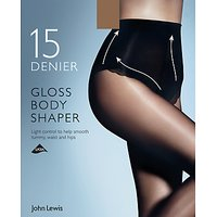 John Lewis & Partners 15 Denier Gloss Body Shaper Tights