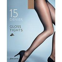 John Lewis & Partners 15 Denier Gloss Tights, Pack Of 1